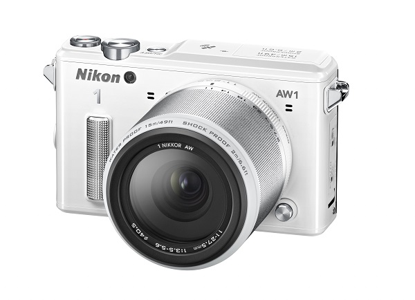 The Nikon 1 AW 1 system - also available in white