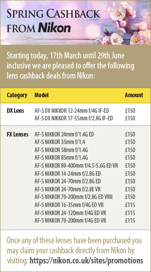 Spring Cashback from Nikon