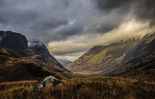 Glen Coe by Angus Reid Nikon D700 + 24-85mm f/2.8-4 lens at 40mm: ISO 200, f/13 @ 1/60 sec